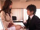 Akiho Yoshizawa Asian model is hot in her school uniform picture 15