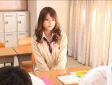 Akiho Yoshizawa Asian model is hot in her school uniform picture 2