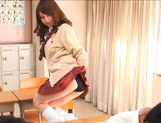 Akiho Yoshizawa Asian model is hot in her school uniform picture 5