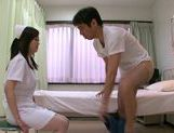 Kinky Japanese nurse Sayuki Kanno makes fancy tit fuck picture 10
