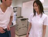 Kinky Japanese nurse Sayuki Kanno makes fancy tit fuck picture 6