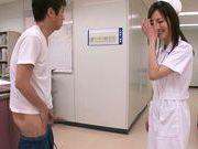 Kinky Japanese nurse Sayuki Kanno makes fancy tit fuck
