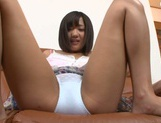 Sex appeal Asian teen with tiny tits Miyu Suzumura rides cock picture 11