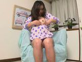 Reira Maki Asian babe enjoys playing with toys