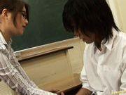Hot Asian teacher has sex in her lingerie