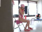 Solo girl session with horny Asian teen Tsubomi picture 12