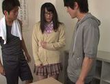 Pretty teen Nana Usami is a horny cock-starved scholgirl picture 11