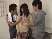 Pretty teen Nana Usami is a horny cock-starved scholgirl