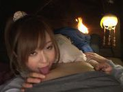 Hot Japanese AV model Rina Ishihara enjoys big hard dick