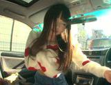 Long-haired model Arina Sakira blows her boyfriend in a car picture 14