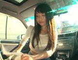 Long-haired model Arina Sakira blows her boyfriend in a car picture 15