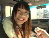 Long-haired model Arina Sakira blows her boyfriend in a car picture 3