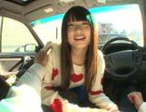 Long-haired model Arina Sakira blows her boyfriend in a car picture 6