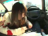 Long-haired model Arina Sakira blows her boyfriend in a car picture 7