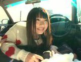 Long-haired model Arina Sakira blows her boyfriend in a car picture 8