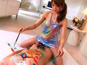 Akiho Yoshizawa Asian doll is having a good time with her guyssexy asian, hot asian pussy}