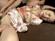 Sexy tied up milf in kimono Towa Aragaki gets toyed and bangedhot asian pussy, asian wet pussy, japanese pussy}