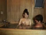 Eri Hosaka gives alluring blowjob in the sauna picture 12