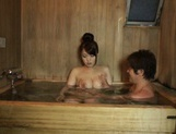 Eri Hosaka gives alluring blowjob in the sauna picture 13