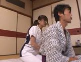 Sex appeal Japanese AV model gets satisfied by her sex partner
