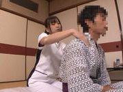 Sex appeal Japanese AV model gets satisfied by her sex partner
