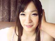 Sweet Japanese AV model in pink lingerie enjoys rod in mouth and pussy
