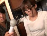 Tied up Japanese teen moans from hardcore dildo insertion picture 10