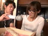 Tied up Japanese teen moans from hardcore dildo insertion picture 3