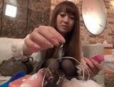 Sexy japanese model gets fucked really hard picture 4