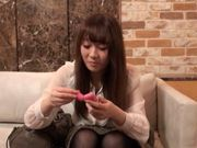 Sexy japanese model gets fucked really hard
