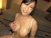 Shameless busty Asian Ayumi Hasegawa sucks many hard cockshot asian pussy, asian wet pussy, asian schoolgirl}