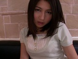 Upskirt fuck for naughty Japanese model Reo Saionji