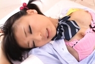 Chika Ishihara Japanese doll is in a costume for some hot sex actionhot tits, asian tits, huge tits