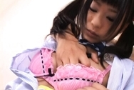 Chika Ishihara Japanese doll is in a costume for some hot sex actionasian boobs, huge boobs