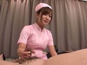 Kokone Mizutani Asian nurse provides handjob service