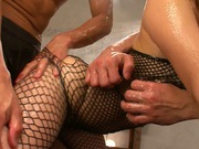 Playful Japanese vixen Kokone Mizutani gets oiled and pounded