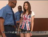 Juicy Japanese teen girl is teased by two black dudes
