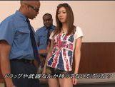 Juicy Japanese teen girl is teased by two black dudes