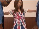 Juicy Japanese teen girl is teased by two black dudes picture 6