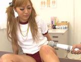 Lustful Japanese teen Megu Hazuki sucks rod enjoys titty fuck picture 8