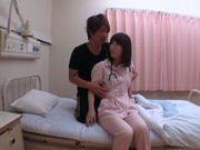Luscious Japanese AV Model in sexy uniform of a nurse