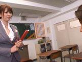 Yuma Asami Hot Asian doll is a naughty Asian teacher in the class room
