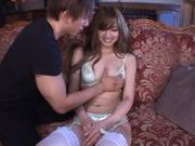 Exquisite Japanese milf Erika Shibasaki enjoys two cocks