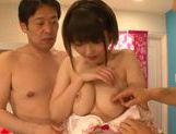 Short-haired angel Minami Aida pleases two guys picture 11