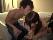 Exquisite Japanese teen Aozora Yamakawa is fucked by two guys