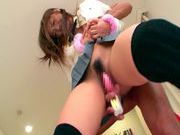 Hinami Kawasumi  Pretty Asian model gets her pussy poked with a dildocute asian, asian schoolgirl, hot asian pussy}