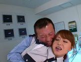 Yummy redhead babe Akiho Yoshizawa has sex with her boss
