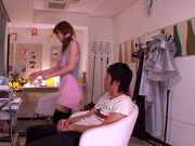Rin Sakuragi blowjob from a cock hungry girl and fucking hot