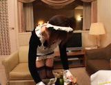 Saki Tsuji Hot Japanese waitress enjoys hard fucking