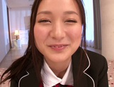 Cum in the mouth of hot Asian rouge Fuuga Kagawa